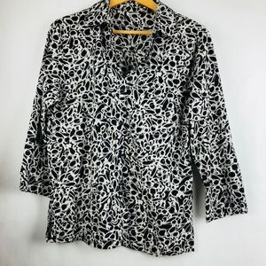 Southern Lady black white blouse Career